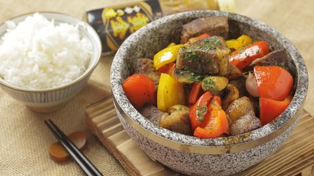 Говядина с перцем и грибами - пошаговый рецепт