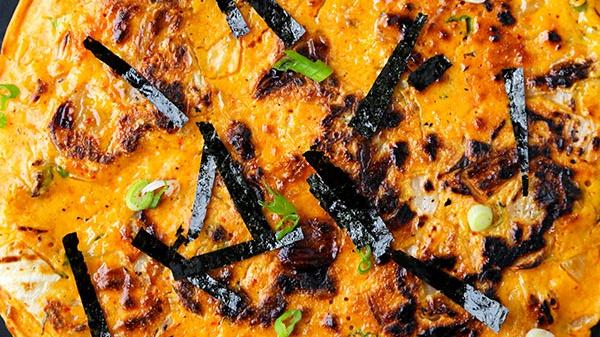 Блинчики с кимчи - пошаговый рецепт