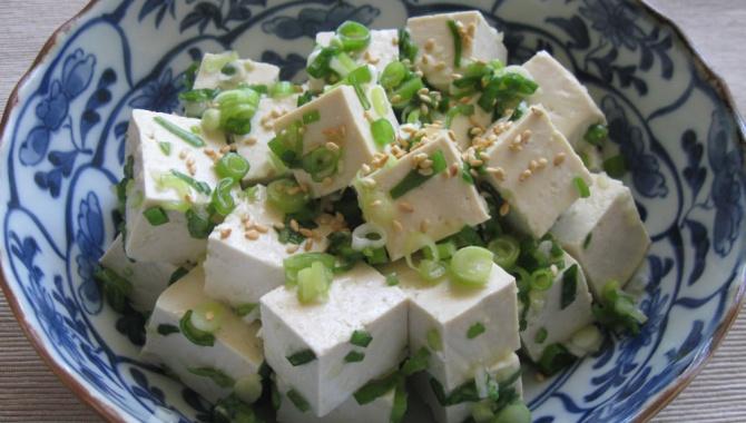 Салат из тофу и зеленого лука - Рецепт