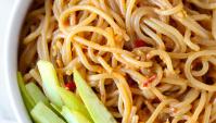 Острая лапша с кунжутом - Рецепт