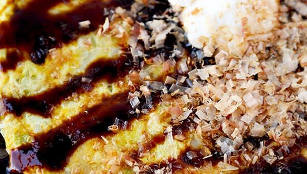Омлет в стиле Окономияки - пошаговый рецепт