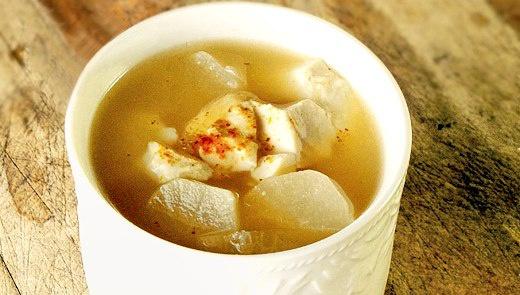 Мисо-суп с кунжутом и дайконом - Рецепт
