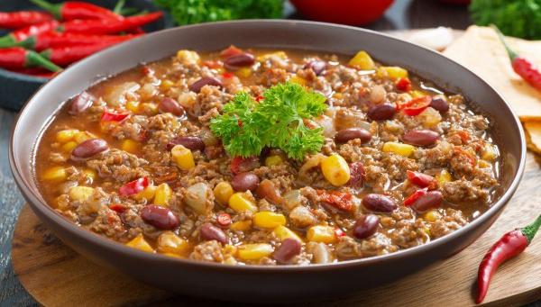 Чили Кон карне - Рецепт
