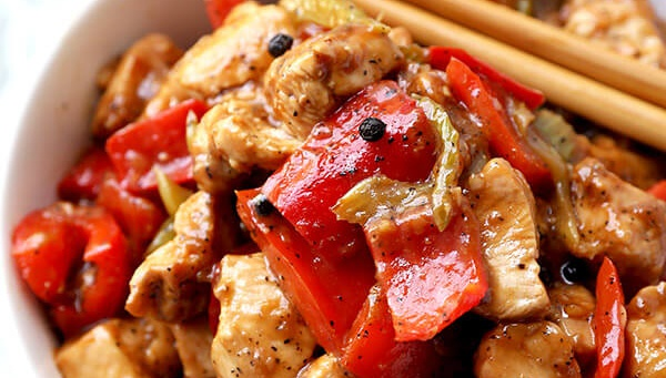Курица с перцем - рецепт