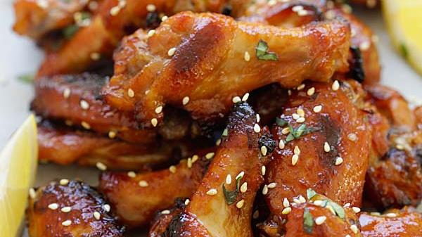 Куриные крылышки с медом и пастой мисо - Рецепт
