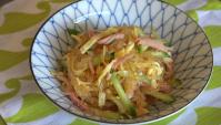 Салат с харусамэ - рецепт