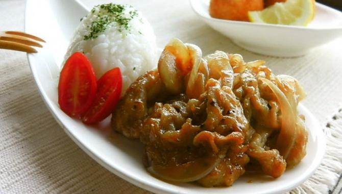 Жареная свинина с имбирём - Рецепт