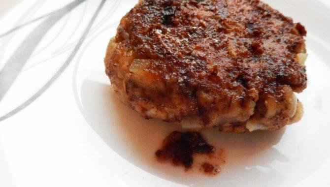 Блюдо из аниме Боевой повар Сома - Бургер из скумбрии