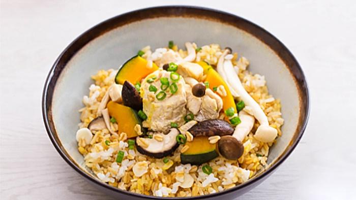 Рис с курицей, овсянкой и тыквой - пошаговый рецепт