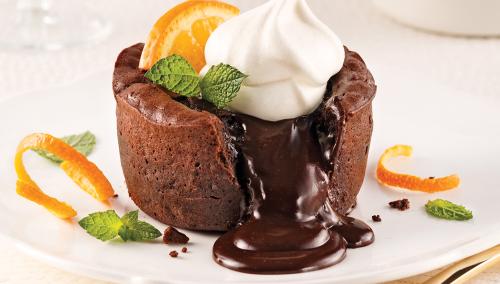 Шоколадный фондан  (кексы с жидкой начинкой) - Рецепт
