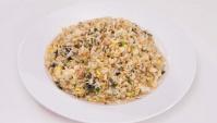 Жареный рис со свиным фаршем и маринованными маслинами - пошаговый-рецепт