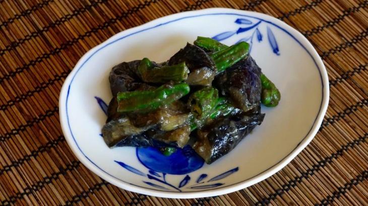 Баклажаны с пастой мисо и перцем шишито - Рецепт