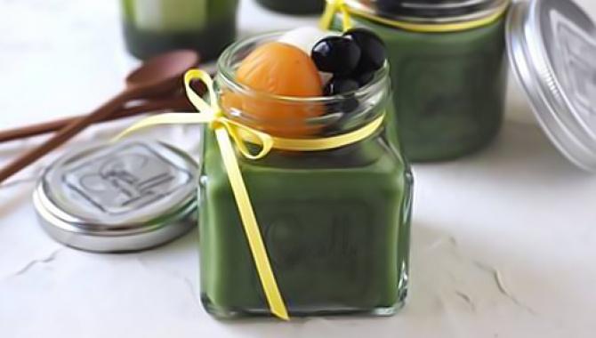 Рецепт - Пудинг с чаем Маття (Матча)