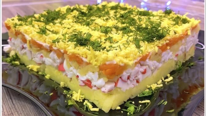 Салат с крабовыми палочками без кукурузы