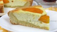 Творожный пирог с персиками - Видео-рецепт