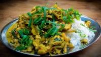 Куриного филе с кокосовым молоком и овощами - Видео-рецепт