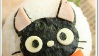 Онигири с кошкой Дзидзи (黒猫ジジおにぎり)