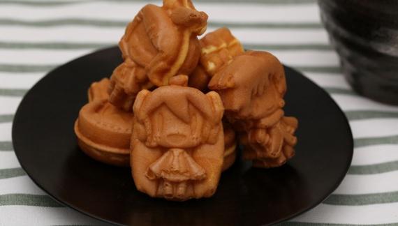 Новые пирожные в виде Вокалоидов :3