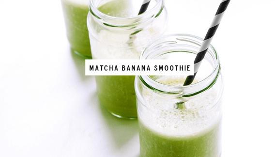 Банановый смузи с зелёным чаем