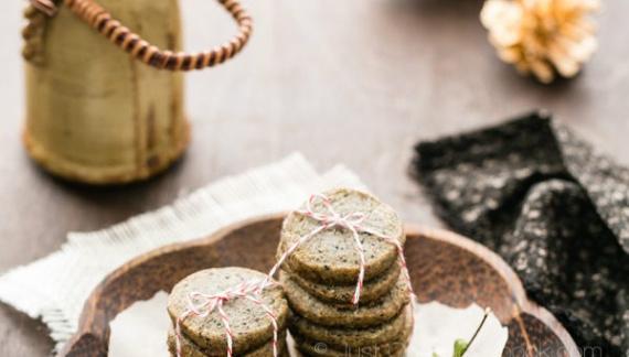 Кунжутное печенье / 黒ゴマクッキー