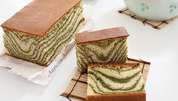 Кастелла с зелёным чаем / 抹茶カステラ