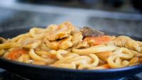 Курица карри с лапшой Удон - пошаговый рецепт