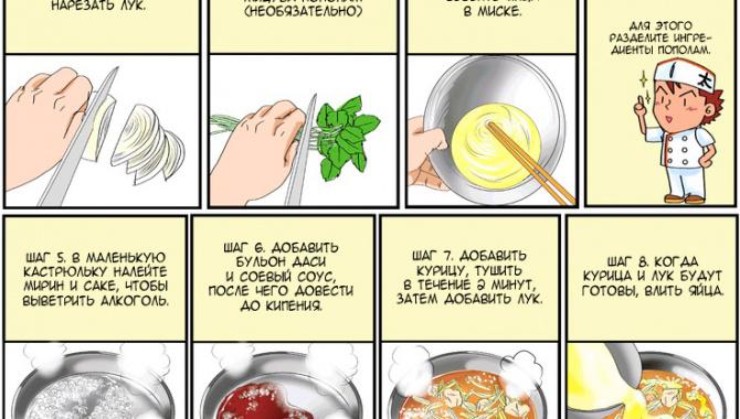 Ояко-дон (курица c яйцом и рисом)