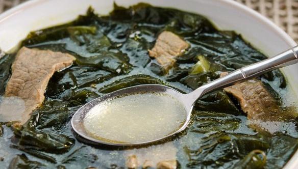 Суп с говядиной и водорослями - пошаговый рецепт