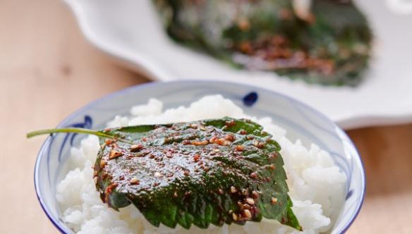 Листья периллы, приготовленные в микроволной печи - пошаговый рецепт
