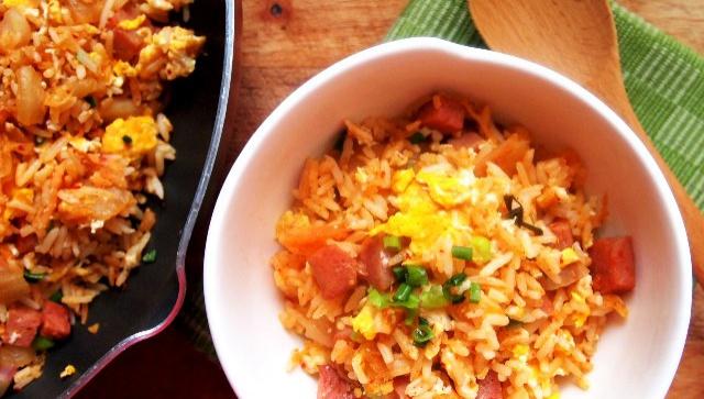 Жареный рис с кимчи - пошаговый рецепт