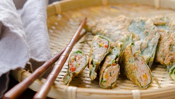 Пельмени из листьев шисо со свининой - пошаговый рецепт