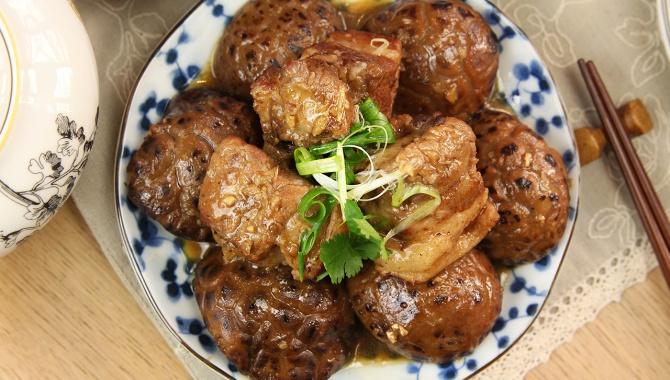 Свиные рёбрышки с грибами - пошаговый рецепт