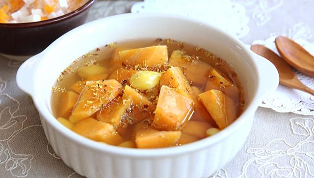 Суп со сладким картофелем и цветами османтуса - пошаговый рецепт