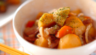 Тушеная свинина с таро - пошаговый рецепт