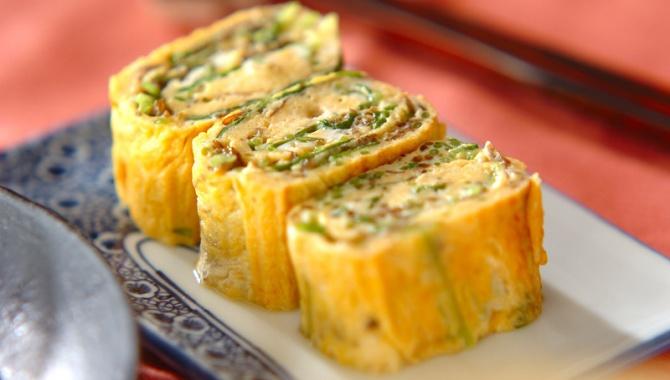 Тамагояки с водорослью модзуку - пошаговый рецепт