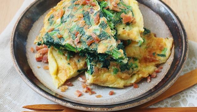 Блин со шпинатом - пошаговый рецепт