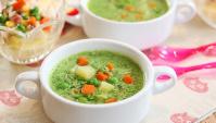 Суп с тофу и сладким горохом - пошаговый рецепт