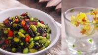 Жареная свинина с маринованной капустой и бобами эдамаме - пошаговый рецепт