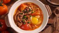 Хот-пот с говядиной и томатами - пошаговый рецепт
