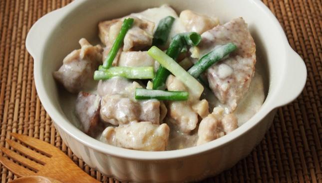 Рагу с таро и курицей - пошаговый рецепт