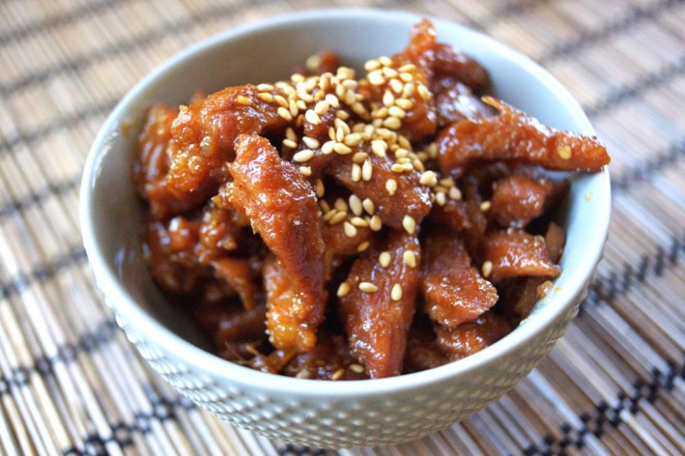 Рецепт говядины с кунжутом