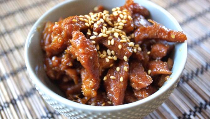 Свинина Сигурэни с кунжутом - пошаговый рецепт