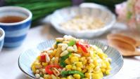 Пряная сладкая кукуруза с кедровыми орешками - пошаговый рецепт