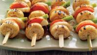 Кушияки из грибов с заправкой из перца саншо