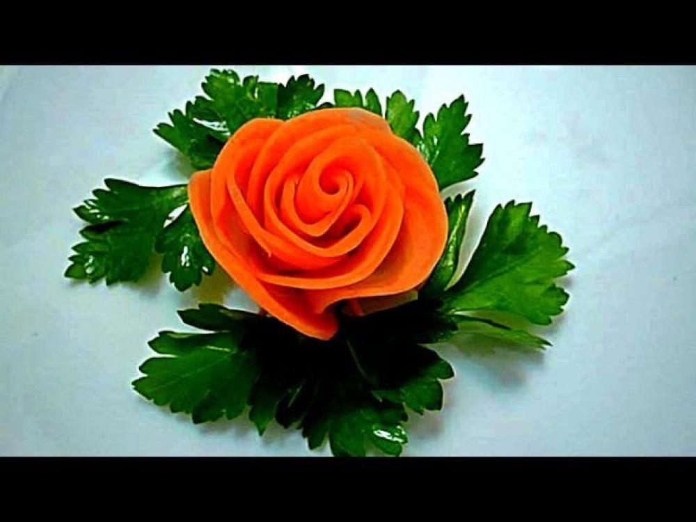 Цветы из вареной моркови своими руками