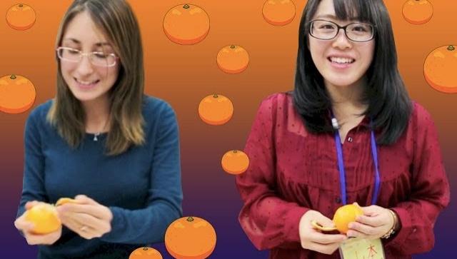 Как японцы чистят мандарины