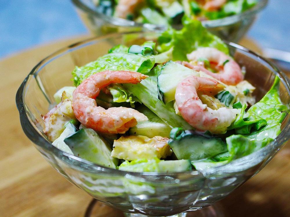 логично, рецепты салатов из креветок с фото простые нас есть все