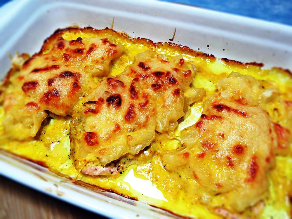 отбивные с ананасами и сыром в духовке
