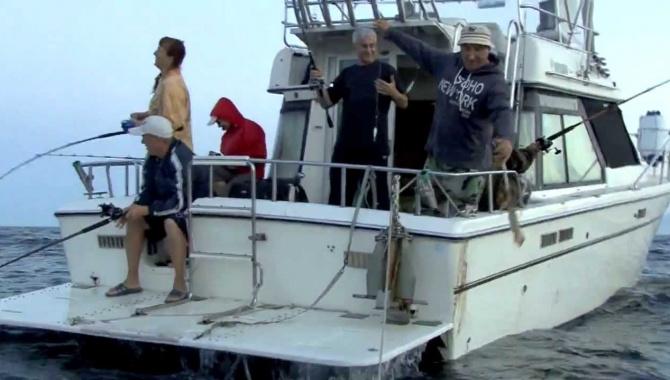 Ловля кальмара во Владивостоке
