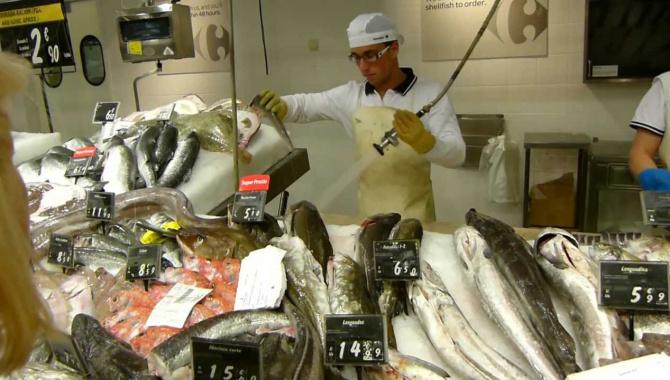 Цены на морепродукты и рыбу в Испании